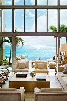 Modern Living Room with High ceiling, Hardwood floors, Nuevo Dumas Coffee Table, Tree Trunk Table Lamp