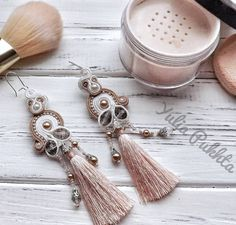 """49 Likes, 6 Comments - Soutache jewelry, Ukraine (@pukhta_soutache) on Instagram: """"New powder shade tassel earrings are ready and looking for an owner. Don't allow anybody take…"""""""