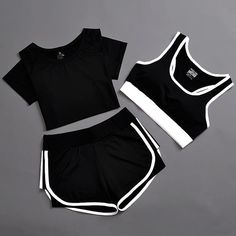 Sports Suit Women Yoga Outfit Set Solid Top and Shorts Breathable – Cute Comfy Outfits, Lazy Outfits, Teen Fashion Outfits, Sporty Outfits, Teenager Outfits, Athletic Outfits, Trendy Outfits, Girl Outfits, Summer Outfits