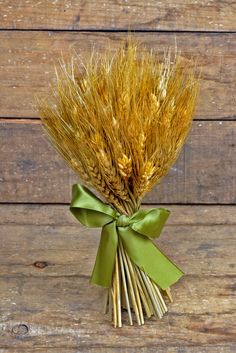 Natural Preserved Wheat Bouquet 9.5in
