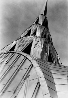 "oldnewyorklandia: ""Margaret Bourke-White Chrysler Building, New York ca. Gelatin silver print © Estate of Margaret Bourke-White/ Licensed by VAGA, New York, NY The Metropolitan. Chrysler Building, Louis Daguerre, Charles Rennie Mackintosh, Art Nouveau, American Modern, American Art, New York City, Architecture Unique, Margaret Bourke White"
