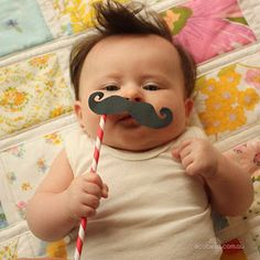 Movember moustache baby fun dress up via ecobella living