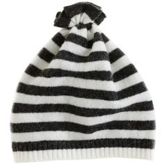 Collection Baby Cashmere Stripe Pouf Hat ($45) via Polyvore