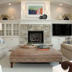 family room - built ins