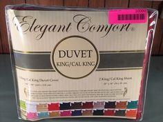 ELEGANT COMFORT CAL KING DUVET COVER WITH TWO SHAMS