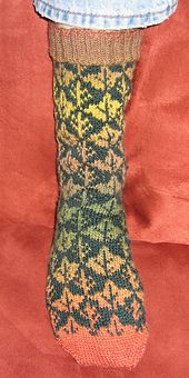 Ravelry: FALL OUT: The Socks pattern by Deborah Tomasello
