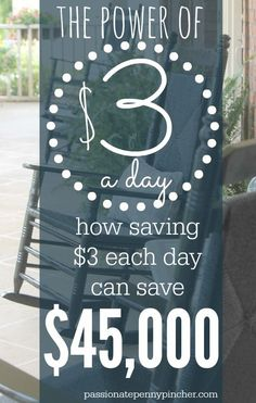 SEE HOW $3 IN SAVINGS A DAY MIGHT JUST SAVE YOU $45,000.. No gimmicks, just simple math that you can make work for you!!!!!  The article tells you to put the $3 toward your mortgage, but since I rent, I put it toward credit card debt.
