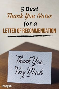 Get inspired to express your gratitude for the letter of recommendation, with these 5 examples of thank you notes for … Thank You Writing, Email Writing, Thank You Letter, Best Thank You Notes, Thank You Messages, Writing A Reference, Reference Letter, Persuasive Letter, How To Study Physics