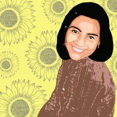 #portrait #sunflower #illustration #digitalart #digitalillustration #girlportrait Sunflower Illustration, Digital Illustration, Disney Characters, Fictional Characters, Digital Art, Portrait, Disney Princess, Flowers, Illustrations