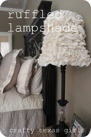 need to give our lamp shade a makeover