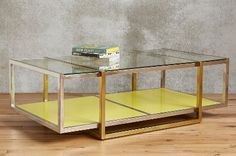 anthro, floating lacquered coffee table - i know you said no yellow but i'm OBSESSED