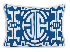 Kyoto Navy Outdoor Pillow - Lacefield - $162 - domino.com