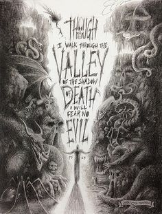 Shadow Valley - Fine Art Print Pencil Drawing based on Psalm 23 on Etsy, $25.00