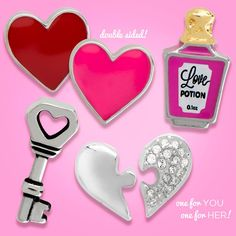 Our 2017 Valentine's Day Collection is LIVE! Here are some of the new products! A red and pink double sided Heart Emoji, Love Potion Bottle, Puzzle Piece Heart, and a Key!