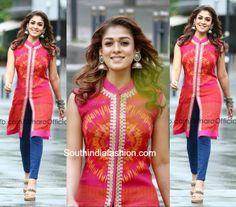 Nayanthara in Ritu Kumar – South India Fashion Churidar Designs, Kurta Designs Women, Indian Attire, Indian Wear, Indian Style, Dress Neck Designs, Blouse Designs, Pakistani Outfits, Indian Outfits