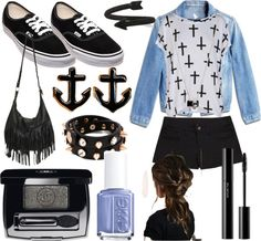 """black"" by harrystyleskitten ❤ liked on Polyvore"
