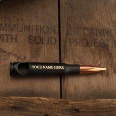 Mens Gift. 50 Caliber®  Bullet Bottle Opener in by LuckyShotUSA