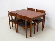 デンマーク製チーク材のダイニング5点セット 北欧ウェグナー インテリア 雑貨 家具 Modern teak furniture ¥120000yen 〆05月08日