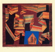 Transparent-en perspective de Paul Klee (1879-1940, Switzerland)