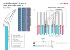 Bandwebeset Sunna 5 türkisrot - Stoorstålka Sami Design Jokkmokk - To-do - Artikel Inkle Weaving, Inkle Loom, Card Weaving, Tablet Weaving, Loom Board, Diy Crochet, Textile Art, Turquoise, Knitting