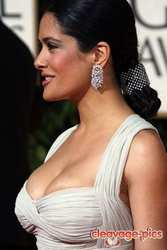 salma hayek cleavage!