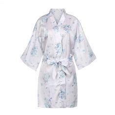 Stunning satin kimono robe adorned in beautiful delicate floral designs, it is lightweight providing luxuriously silky comfort on your skin. Honeymoon Getaways, Romantic Honeymoon, Girls Weekend, Kimono Fashion, Floral Design, Forget, Delicate, Bridal, Beautiful