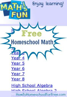 "Maths is Fun Free Homeschool Math Curriculum I'm so excited to share this wonderful homeschool math resource with you today.  Maths is Fun could really be used for your full math curriculum.  Yes, it is ""maths"" with an 's', in case you were wondering.  It includes tons of topics like measurement, operations, geometry, and …"