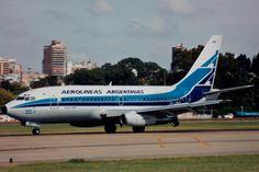 AEP 16Mar1995, LV-JMZ, B737-287 Aerolíneas Argentinas. Photo credit Roland Büsser