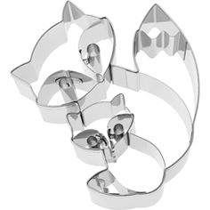 Cookie Cutter Fox Pair, Stainless Steel