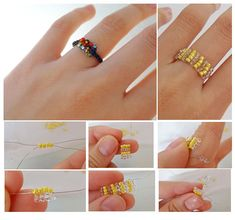 Pandahall.com offers you jewelry  making ideas and easy picture instruction to help you to finish this beaded ring.