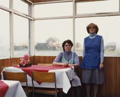 Cafe Assistants, Compass Cafe, Colsterworth, Lincolnshire , November, 1982 by paul graham