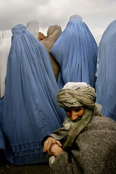 Burqas in Kabul, Afghanistan.