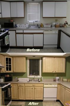 Furniture Before After How To Replace Cabinet Doors Wooden And White Original Color Door Replacement Drawer Fronts