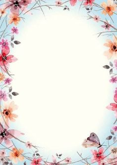 Фотография Flower Backgrounds, Wallpaper Backgrounds, Iphone Wallpaper, Wallpapers, Borders For Paper, Borders And Frames, Page Borders, Frame Background, Floral Border