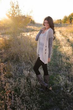 long sweater, leggings and boots.. Hello Fall!