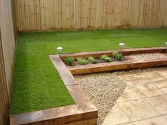 Has anyone build raised border using (new) oak sleepers - Page 2 - Homes Gardens and DIY - PistonHeads Back Garden Design, Backyard Garden Design, Garden Landscape Design, Oak Sleepers, Sleepers In Garden, Patio Edging, Garden Edging, Garden Planters, Border Garden