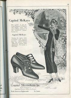 #highheels #illustration #flapper #stl #stlouis #1920s #oldads #history Brief History of McKays Shoes
