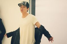 Twitter / SMTownFamily: {OFFICIAL} 140326 #SuperJuniorM Swing Music Video Shoot- Eunhyuk
