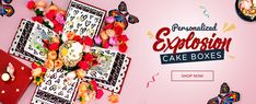 The Ultimate Online Cake Store. Order Gourmet Cakes, Treats and More. Buy Birthday Gifts With Ease! Home Of The Cake Explosion Gift Box. Birthday Cake Gift, Gift Cake, Online Cake Delivery, Gift Delivery, Gourmet Cakes, Surprise Cake, Order Cake, Experience Gifts, Explosion Box