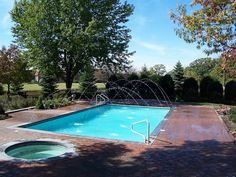 Gunite Pool with Spa by aspools, via Flickr