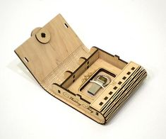 Laser cut vector model. Instant download. Wooden small box.
