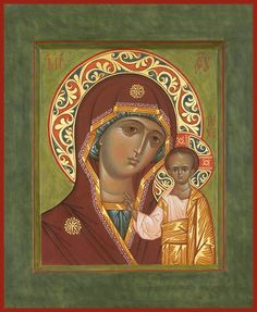 "Mother of God ""Kazan"" Orthodox icon Religious Images, Religious Art, Pictures Of Christ, Queen Of Heaven, Russian Icons, Mary And Jesus, Byzantine Icons, Art Icon, Orthodox Icons"