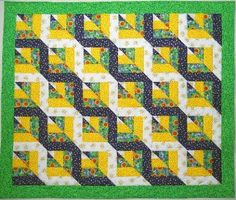 Twisted Rail fence quilt