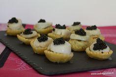En attendant Noël #2 ... Tartelettes aux St Jacques, mousseline de sole & Caviar d'Aquitaine