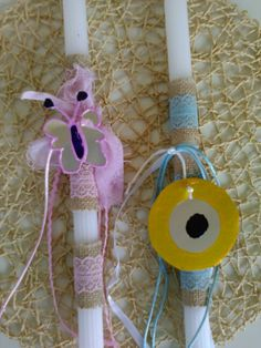 #Eastercandle #easter2016 Christmas Ornaments, Holiday Decor, Home Decor, Rope Crafts, Decoration Home, Room Decor, Christmas Jewelry, Christmas Decorations, Home Interior Design