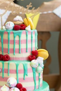 Tarta Chorreando Drip Cakes, Frosting Recipes, Chocolate, Cake Decorating, Birthday Cake, Desserts, Layers, Food, Girls