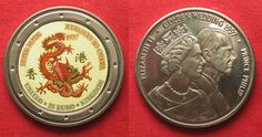 1997 England UK 25 Euro 1997 Dragon HONG KONG RETURNS TO CHINA / GOLDEN WEDDING Cu-Ni # 94610 BU (MS65-70)