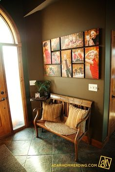 I could do this...couldnt I? Print board pictures and collage them on the wall like this. Love the idea. | new-house.co