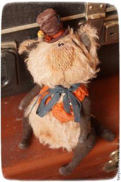 Матвей Матвеевич - таня бурсюк,кот,тедии,коричневый,мохер,синтепон,металлический гранулят
