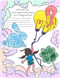 Imagination Coloring Page from Tiny Buddhas Gratitude Journal http://ift.tt/2rdtkru